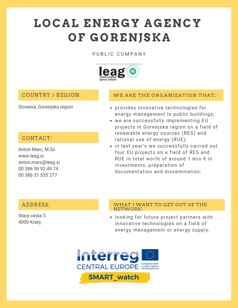 LOCAL ENERGY AGENCY OF GORENJSKA