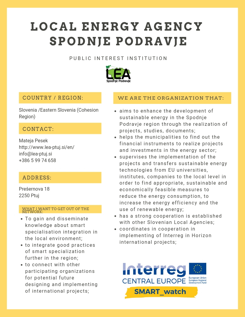 LOCAL ENERGY AGENCY SPODNJE PODRAVJE