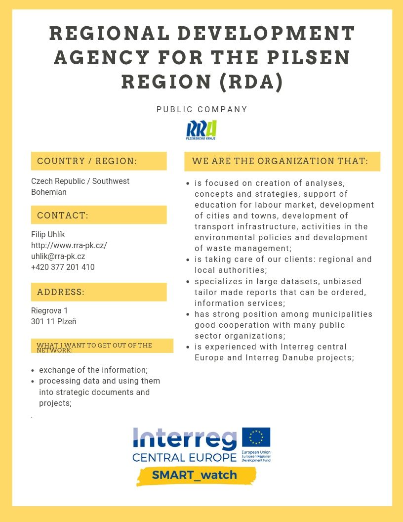 Regional Development Agency for the Pilsen Region (RDA)