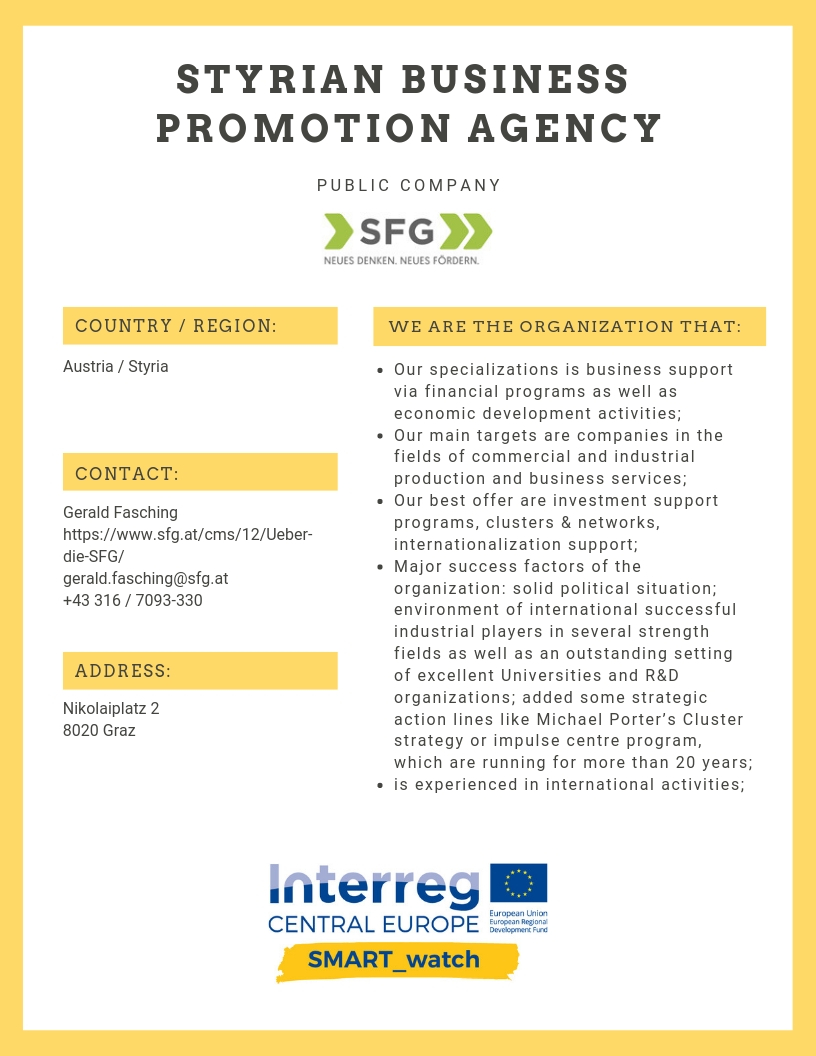 STYRIAN BUSINESS PROMOTION AGENCY