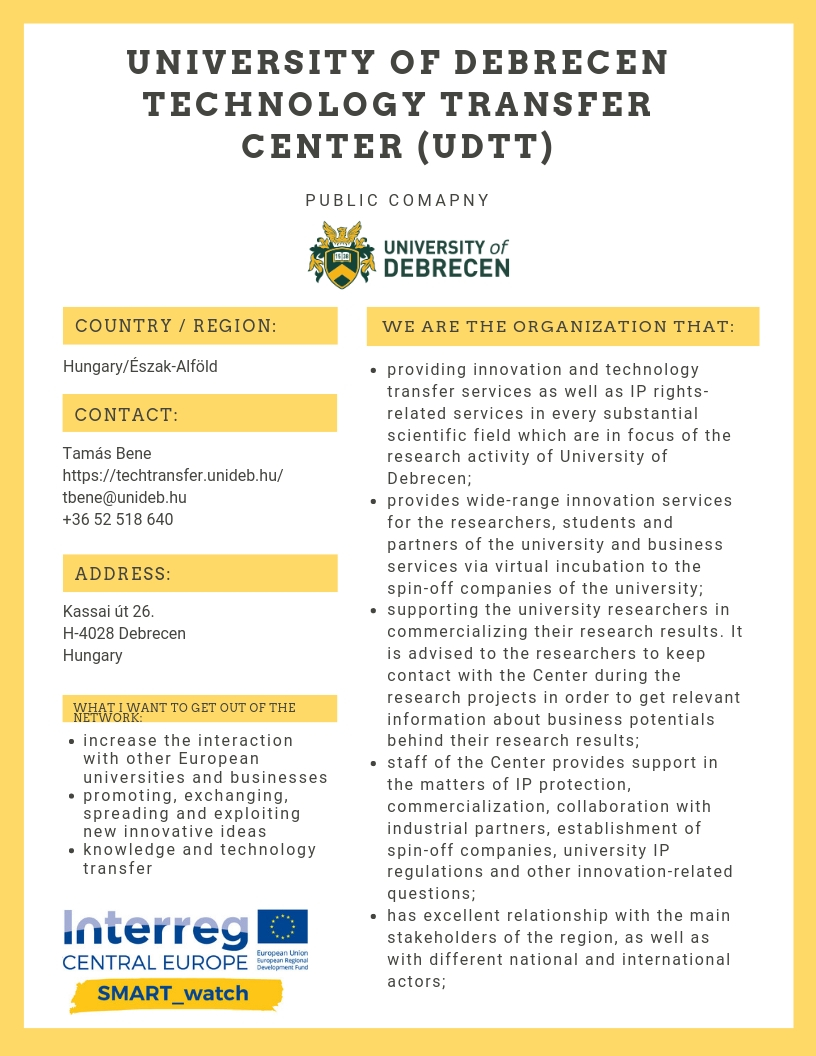 University of Debrecen Technology Transfer Center (