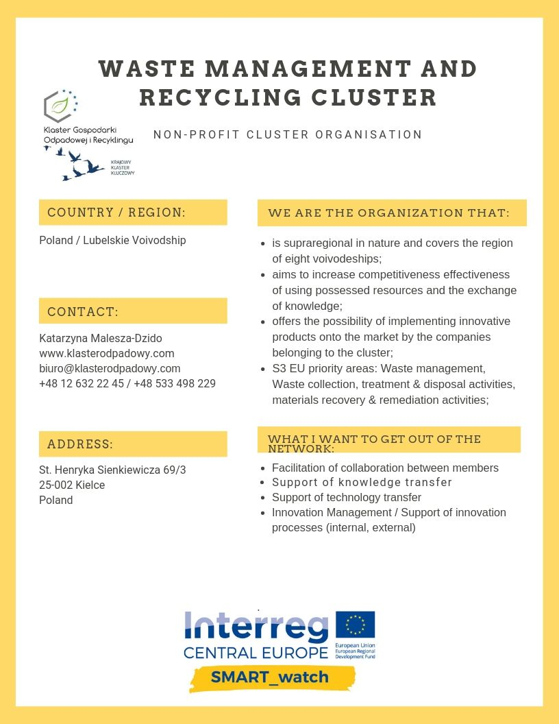 Waste Management and Recycling Cluster